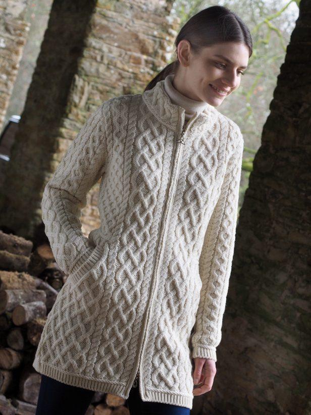 Ierse Trui.Westend Knitwear Trui Polo Neck Sweater