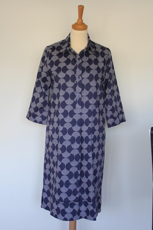 2f55db897d1 LaSalle Fashion jurk Cotton Dress, marineblauw print